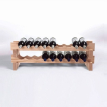 18 Bottle Stackable Wine Rack Kit (Natural)