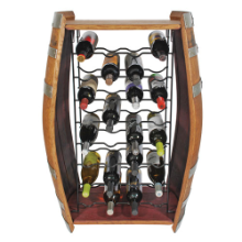 32 Bottle Wine Barrel Wine Rack