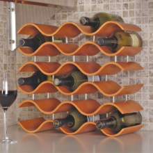Bali Wine Rack 15 Bottle - Spiced Pumpkin