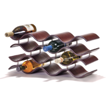 Bali Wine Rack 10 or 12 Bottle - Ebony/Dark Brown