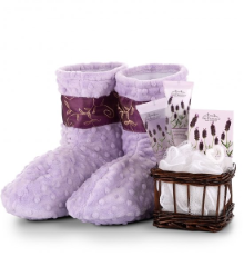 Relaxation Booties with Lavendar