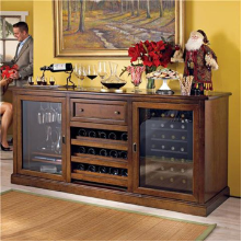 Siena Wine Credenza WITH 28 Bottle Touch Screen Wine Refrigerator