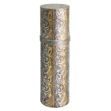 Embossed Gold & Silver Scroll Wine Tube