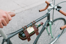 Leather Bicycle Wine Caddy