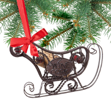 Sleigh Cork Storage Ornament