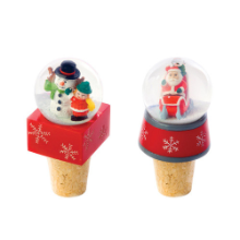 Snow Globe Wine Stoppers - set of 2 different styles