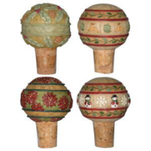 Ornament Ball Holiday Stoppers - Set of 4
