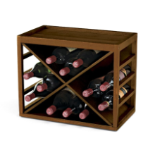Cube Stack 12 Bottle X Wine Rack