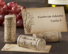 """Maison du Vin"" Wine Cork Placecards - Set of 4"