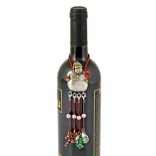 Snowman Bottle Necklace with Wine Charms