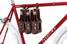 Leather Bicycle 6-Pack Caddy