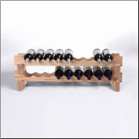 18 Bottle Stackable Wine Rack Kit (Natural) (SKU: CCWE640-18-03)