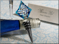 Murano Art Deco Sailboat Design Wine Stopper