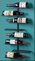 8 Bottle Urban Wall Wine Rack (SKU: CCWE571-08-02)