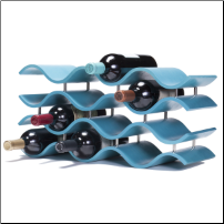 Bali Wine Rack 12 Bottle - Aquamarine