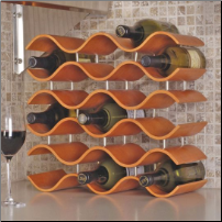 Bali Wine Rack 15 Bottle - Spiced Pumpkin (SKU: CCO-010204)