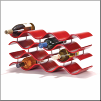 Bali Wine Rack 10 or12 Bottle - Crimson (SKU: CCO-010202)