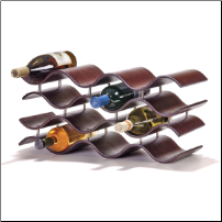 Bali Wine Rack 10 or 12 Bottle - Ebony/Dark Brown (SKU: CCO-010200)