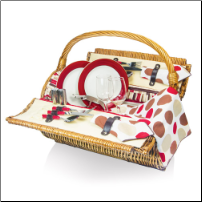 Barrel Wine Picnic Basket Moka
