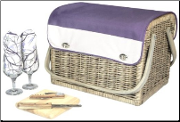 Kabrio Aviano Wine and Cheese Basket for 2 (SKU: CCP325-72-779)