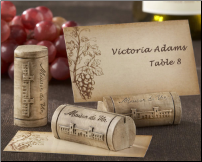 """Maison du Vin"" Wine Cork Placecards - Set of 4 (SKU: CCKA-25055NA)"
