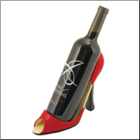 Red High Heel Bottle Holder