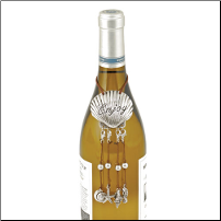 Seashell Wine Bottle Necklace with Wine Charms