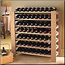 63 Bottle Swedish Wine Rack Natural