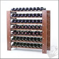 63 Bottle Swedish Wine Rack Walnut