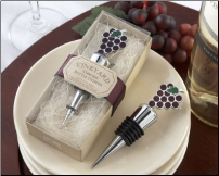 """Vineyard Select"" Enamel and Chrome Wine Bottle Stopper"