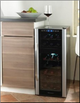 21 Bottle Dual Zone Touchscreen Wine Refrigerator