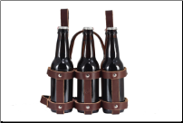 Leather Bicycle 6-Pack Caddy (SKU: CCFBC-0020)