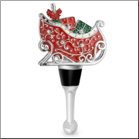 Sleigh Wine Bottle Stopper