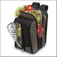 Wine Picnic Backpack for Two - Tweed (SKU: CCE-82-405)