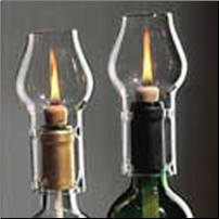 Wine Candle Chimney Set of 2 - Includes Lamp Oil