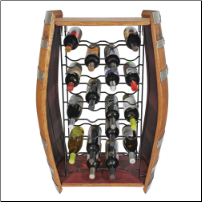 32 Bottle Barrel Wine Rack