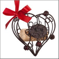 Cork Storage Heart Ornament