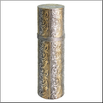 Embossed Gold & Silver Scroll Wine Tube (SKU: CCTF-0329)