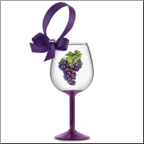 Vineyard Grapes Wine Glass Ornament