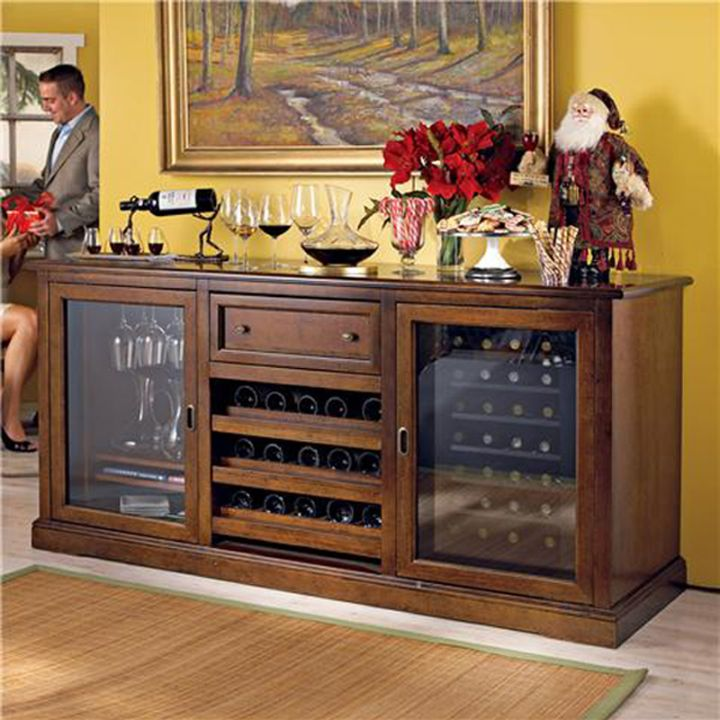 200 Bottle Wine Cabinet with Two Doors - Vinotemp - 296-Credenza